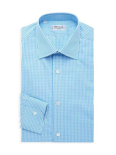 Checkered Cotton Dress Shirt