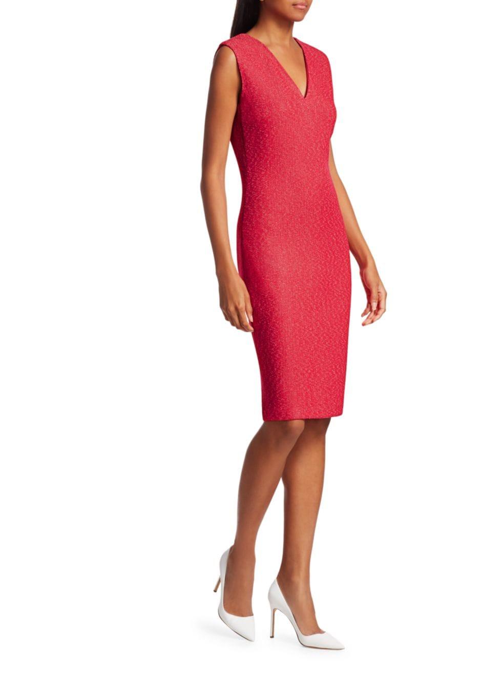 St. John Refined V-Neck Knit Dress | SaksFifthAvenue