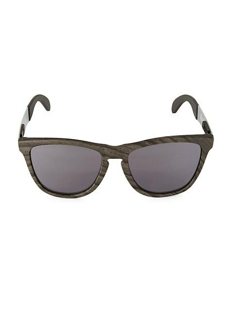55MM Frogskins Mix Woodgrain Sunglasses