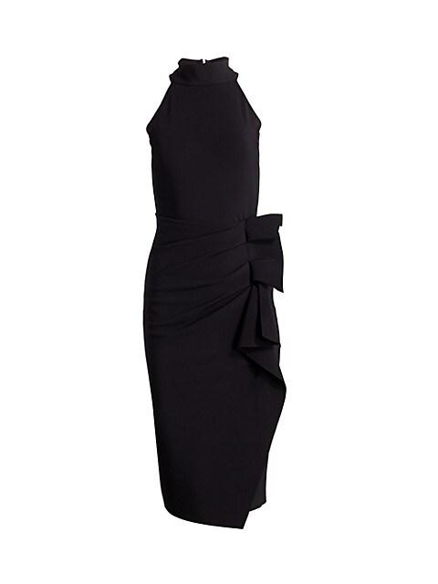 Halter Ruffle Midi Dress