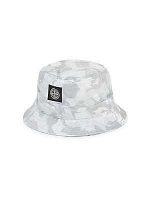 Men's Reversible Cotton Bucket Hat in Camouflage Grey