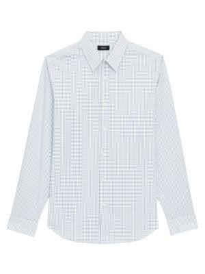 Theory Irving Geometric-Print Shirt
