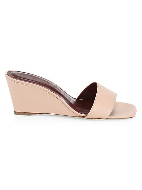 Billie Leather Wedge Mules