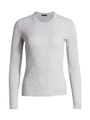 Rag & Bone Women's Pointelle Pinstripe Rib-knit Pullover In Heather Grey