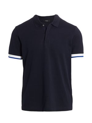 Theory Men's Luxe Polo In Eclipse