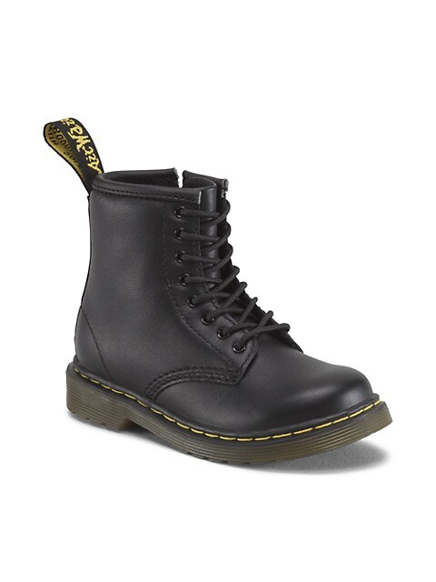 Baby's & Little Kid's Soft Leather Combat Boots