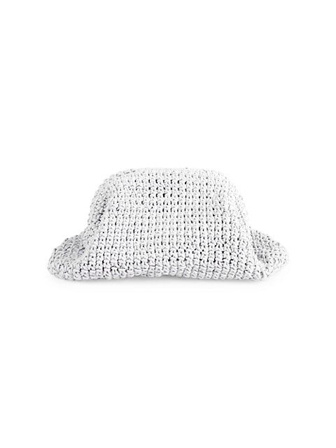 Medium The Pouch Crochet Leather Clutch
