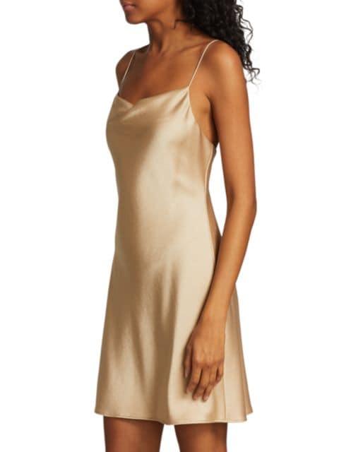 Alice + Olivia Harmony Draped Slip Mini Dress | SaksFifthAvenue