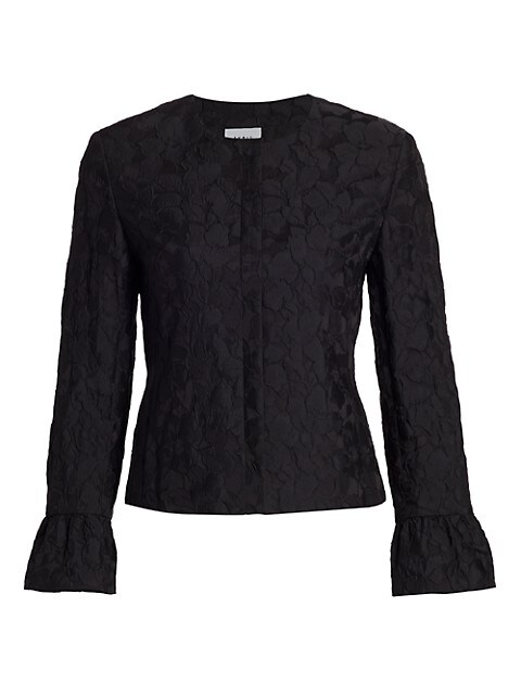Magnolia Cloqué Bell-Sleeve Jacket