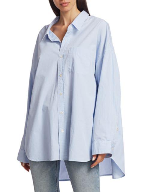 R13 Drop Neck Oxford Shirt   SaksFifthAvenue