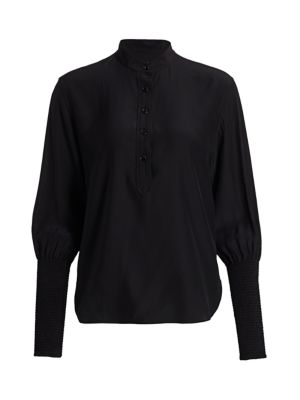 Rag & Bone Women's Maris Puff Sleeve Blouse In Black