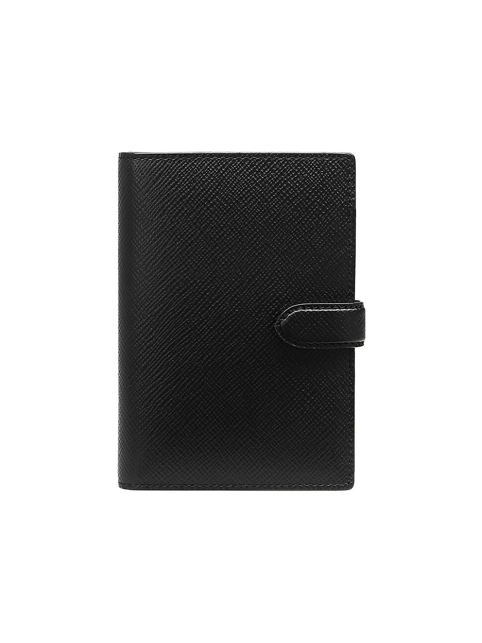 Smythson Panama Leather Passport Cover In Black