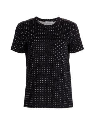 Max Mara Women's Slam Mixed Dot T-shirt In Black
