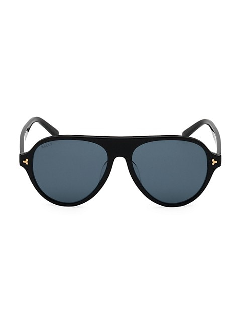 57MM Plastic Aviator Sunglasses