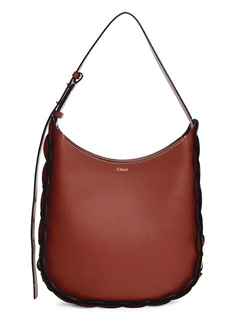 Medium Darryl Leather Hobo Bag