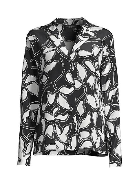 Mariabella Floral Silk Blouse