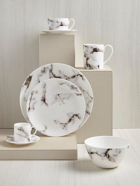 Prouna Marble Venice Fog Serving Bowl Saksfifthavenue