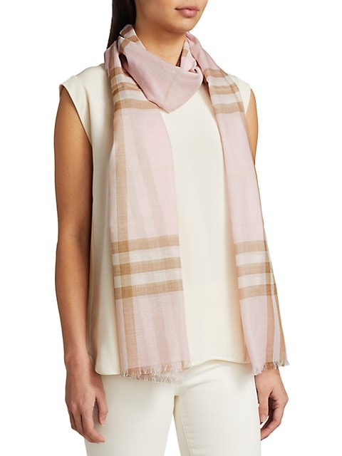 Giant Check Gauze Scarf