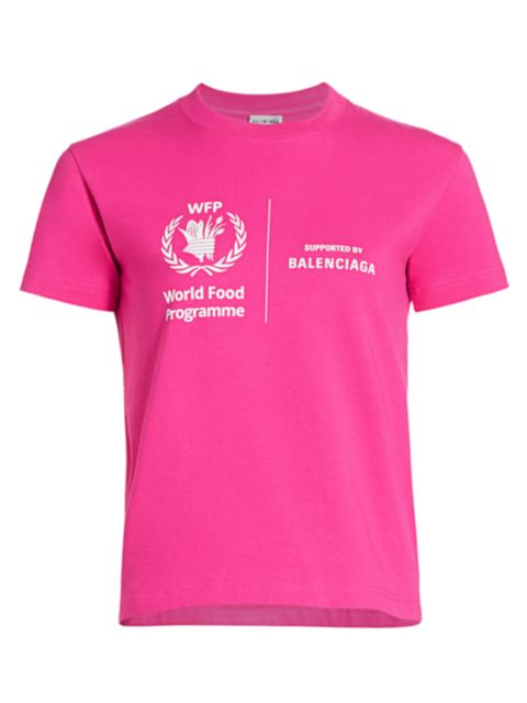 Balenciaga Fitted World Food Programme T-Shirt | SaksFifthAvenue