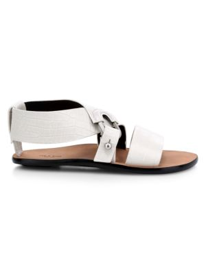 Rag & Bone August Croc-Embossed Leather Gladiator Sandals