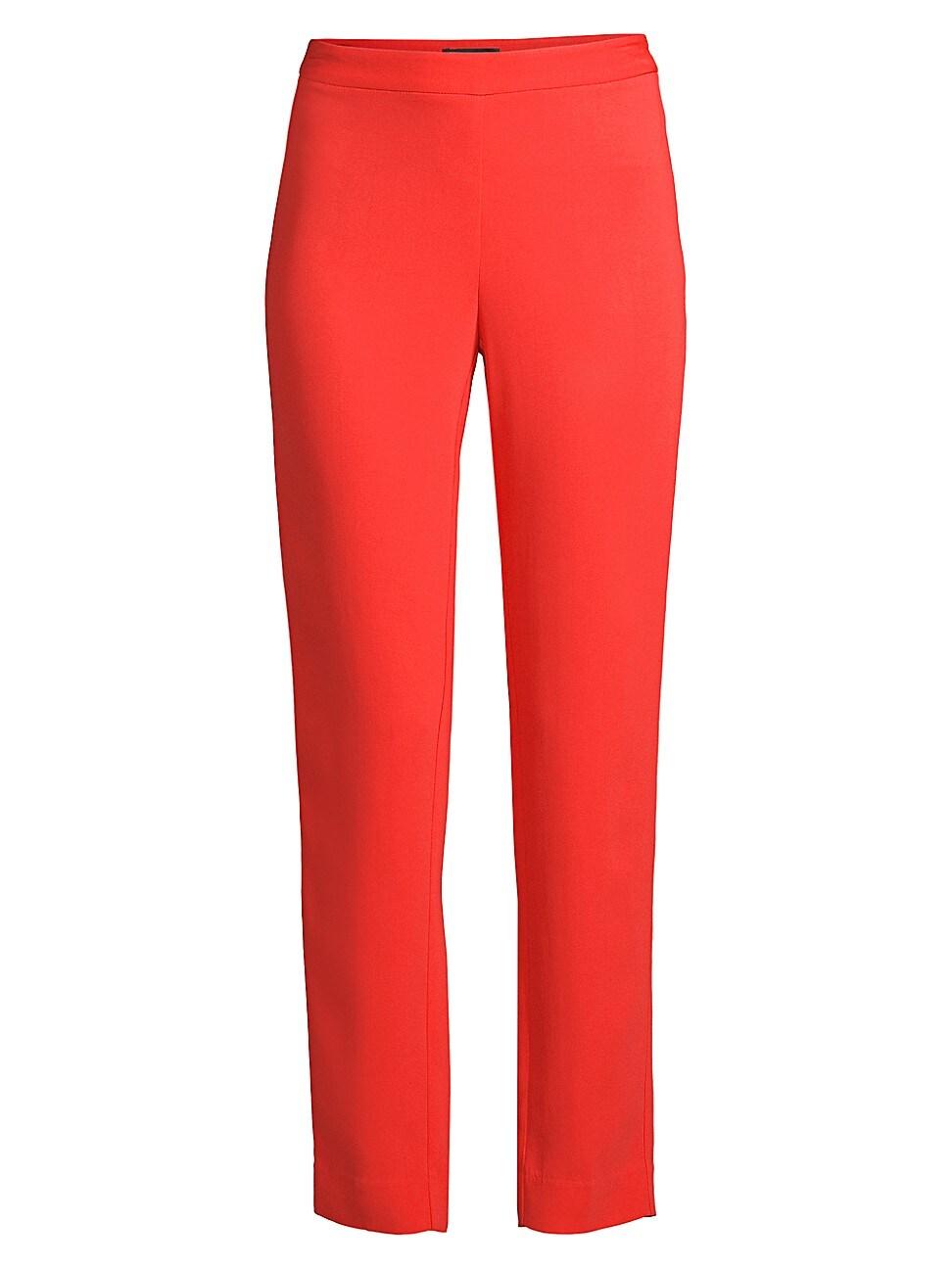 Donna Karan Women's Side Zip Trousers In Poppy