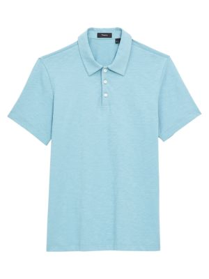 Theory Men's Cosmo Regular-fit Polo Shirt In Seafoam
