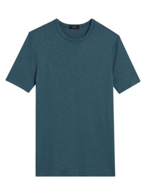 Theory Men's Topstitching Jersey T-shirt In Hydro