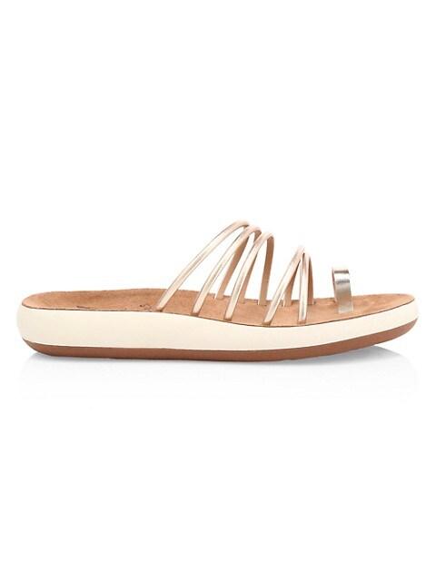 Hypatia Metallic Flatform Sandals