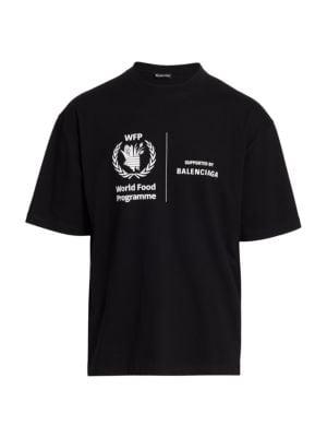 Balenciaga World Food Programme Cotton T Shirt Saks Com