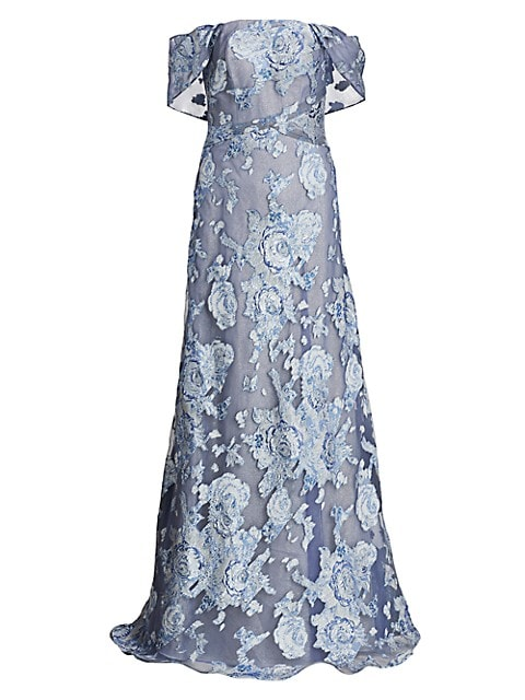Illusion A-Line Gown