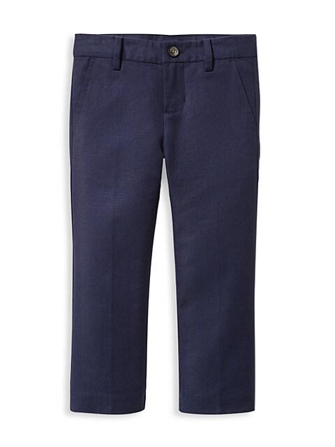 Janie and Jack Babys, Little Boys & Boys Linen-Blend Straight Pants