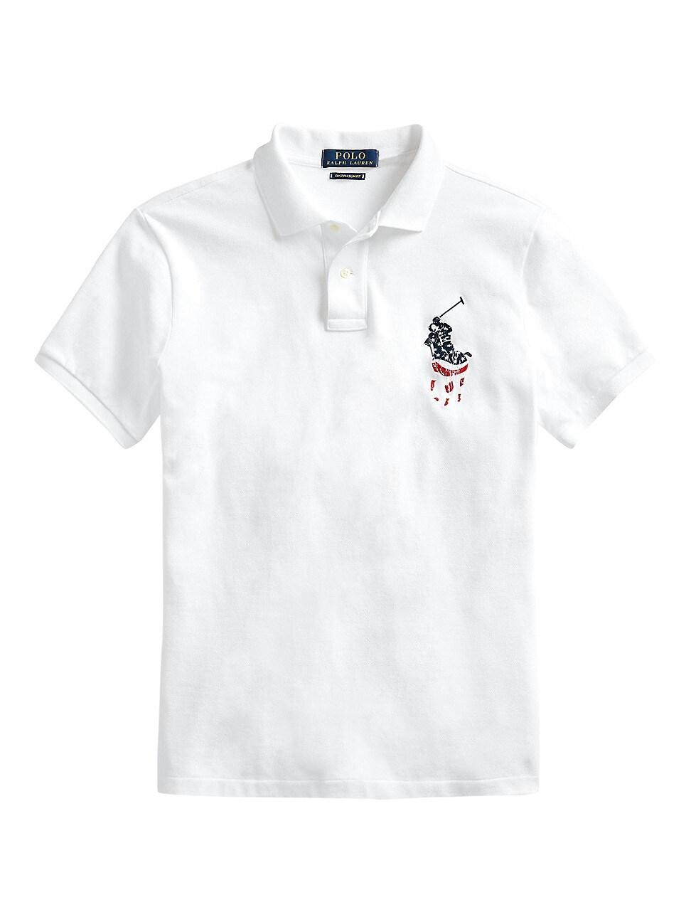 Polo Ralph Lauren Men's Custom Slim-fit Basic Mesh Polo In White