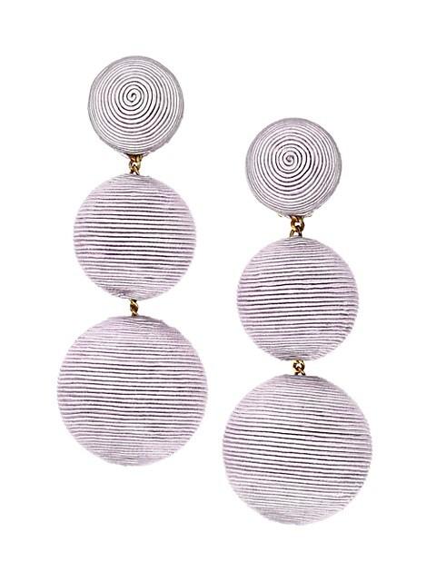 Woven Triple Drop Earrings