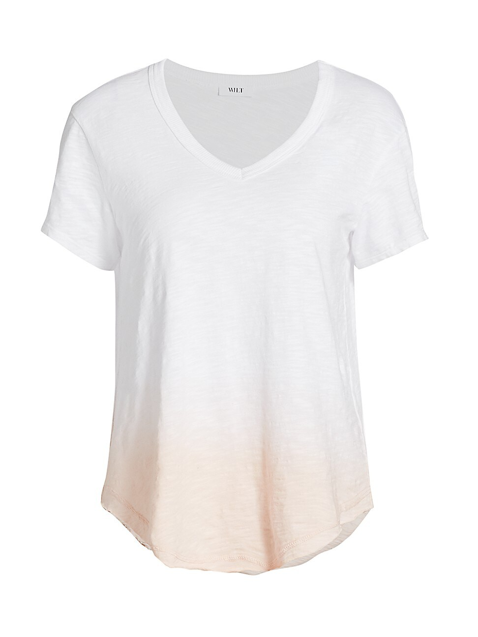 Wilt WOMEN'S OMBRÉ DRAPED T-SHIRT