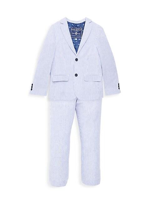 Andy & Evan Little Boys 2-Piece Striped Seersucker Suit