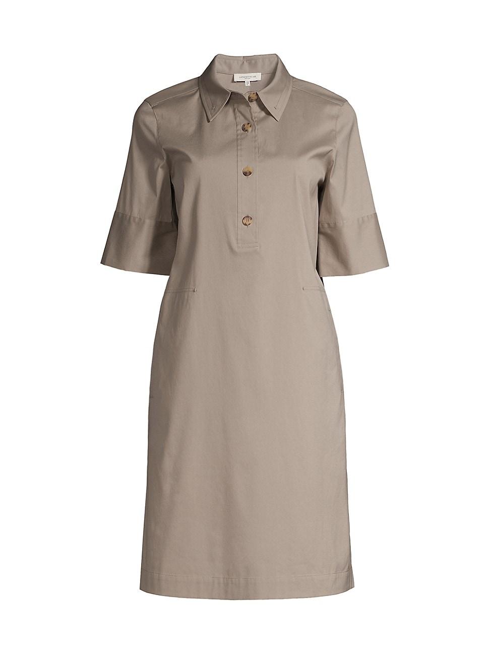 Lafayette 148 WOMEN'S CONROY HENLEY SHIFT DRESS