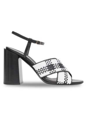 Burberry Woven Leather Sandals