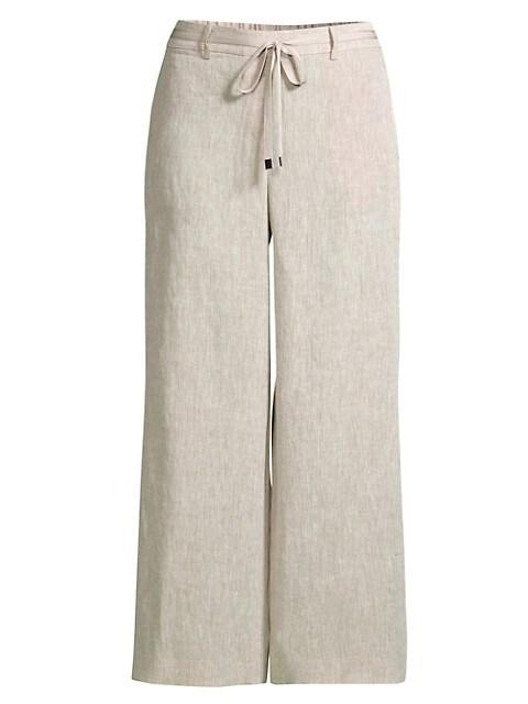 Columbus Linen Cropped Pants