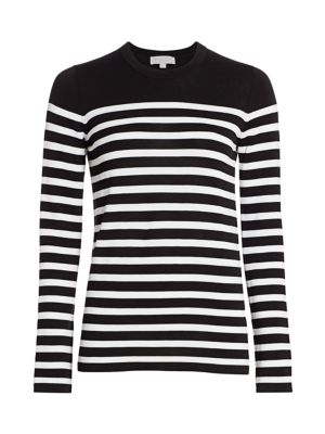 Michael Kors Cottons Striped Cotton Sweater