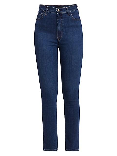 1212 Runway High-Rise Slim-Straight Jeans