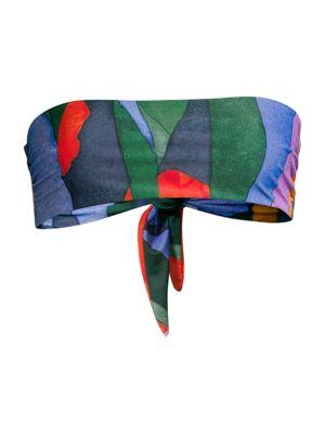 Mara Hoffman Bikinis Abigail Rainbow Bandeau Bikini Top