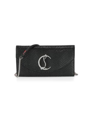 CHRISTIAN LOUBOUTIN Loubi54 Lizard-Embossed Leather Clutch