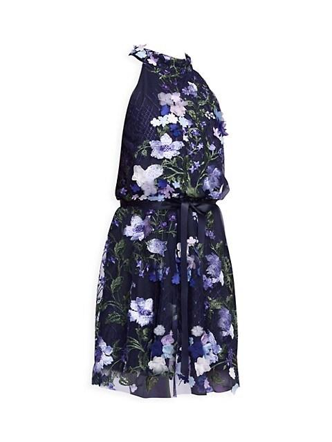 Girl's Louisa Floral Halter Dress