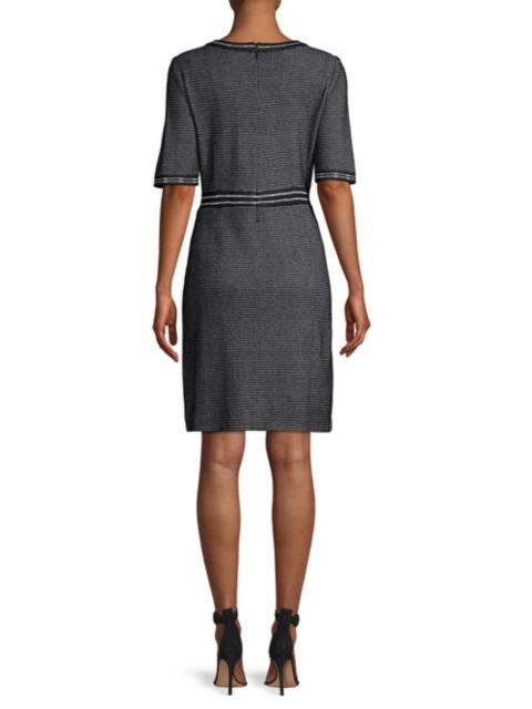Misook Birdseye Knit Sheath Dress | SaksFifthAvenue