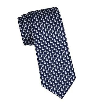 Salvatore Ferragamo Dogs Silk Tie