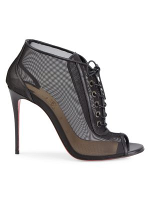 Christian Louboutin Ondessa Open Lace-Up Heeled Booties