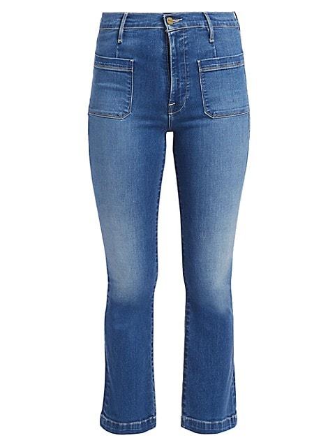 Le Bardot High-Rise Crop Flared Jeans