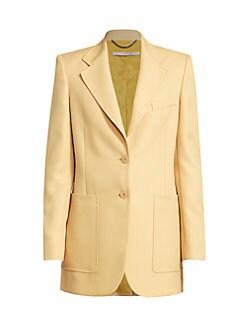 Leather sorento Tan Brown Button Set Blazer And Coats 11 Pc