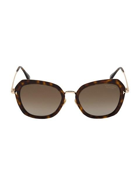 Kenyan 54MM Butterfly Sunglasses