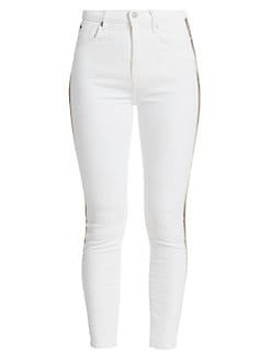 7 For All Mankind Womens Bleached High Rise Skinny Jeans